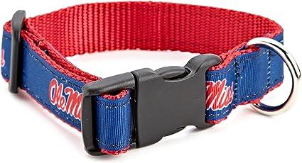 University of Mississippi Rebels Nylon Adjustable Dog Collar
