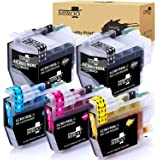 MIROO Compatible Ink Cartridges Replacement for Brother LC3019 XXL (2 Black 1 Cyan 1 Magenta 1 Yellow, 5-Pack) Super…
