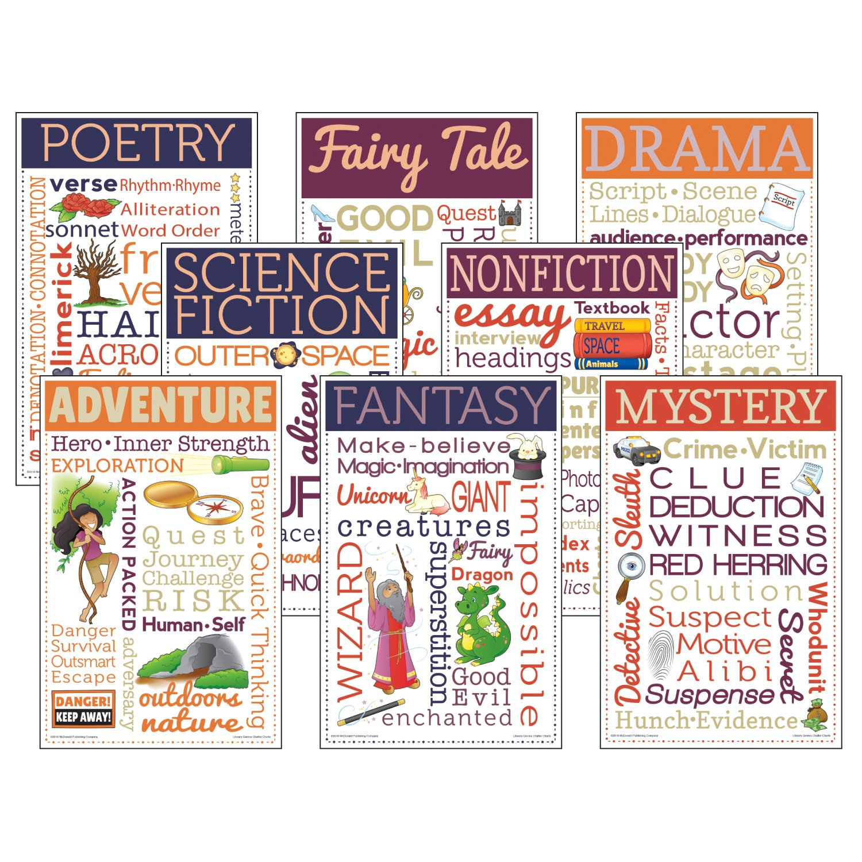 Amazon.com: McDonald Publishing Literary Genres Chatter Chart: Toys ...