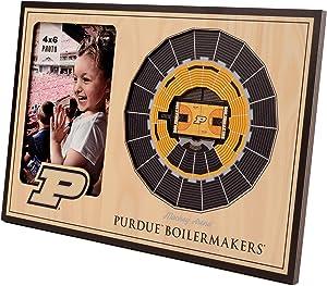 "NCAA Purdue Boilermakers 3D StadiumViews Picture Frame, Purdue Boilermakers Basketball Stadium, 12"" x 8"", Team Color"