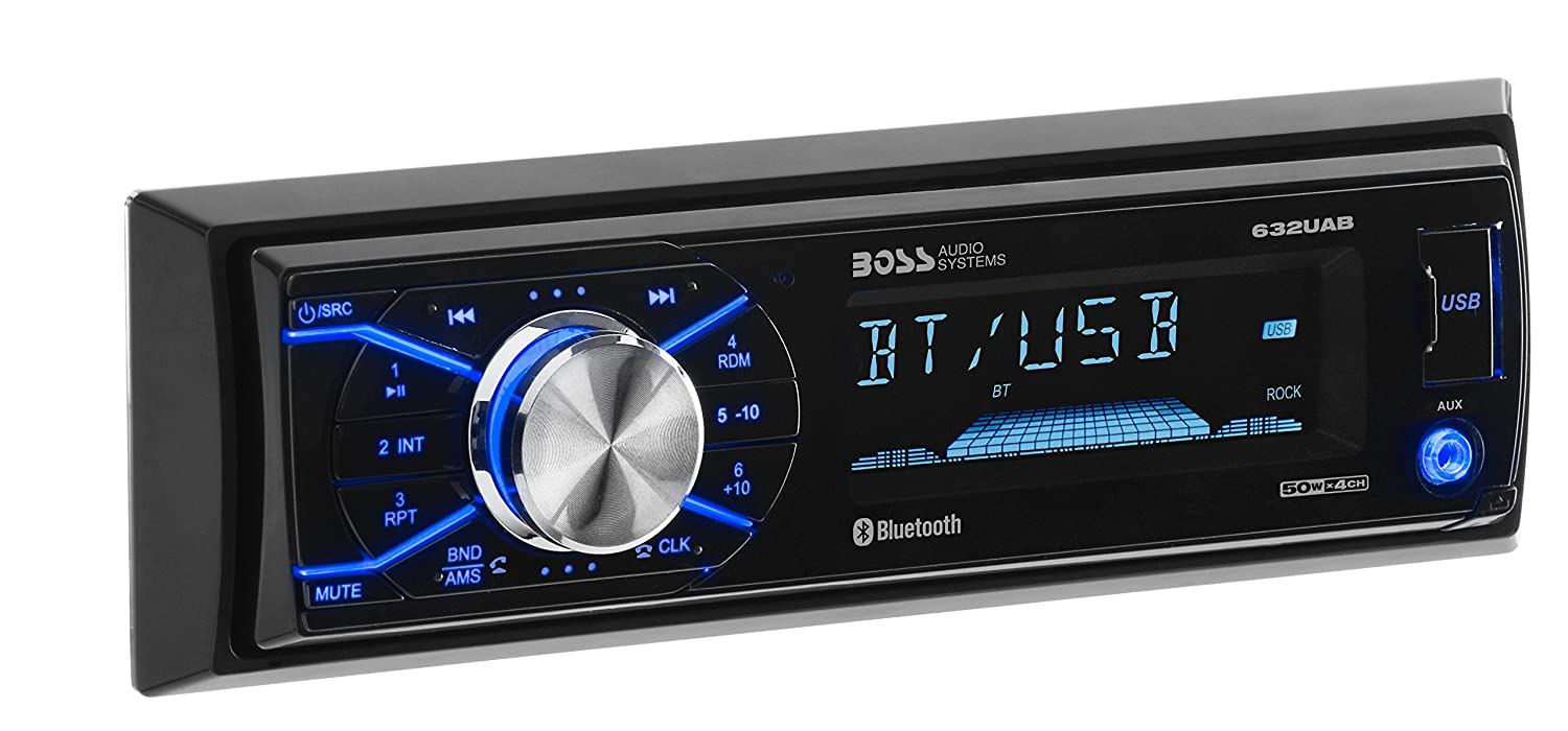 Amazon.com: BOSS Audio 632UAB Car Stereo - Single Din, Bluetooth, (No  CD/DVD) MP3/USB/WMA AM/FM Radio, Detachable Front Panel: Car Electronics