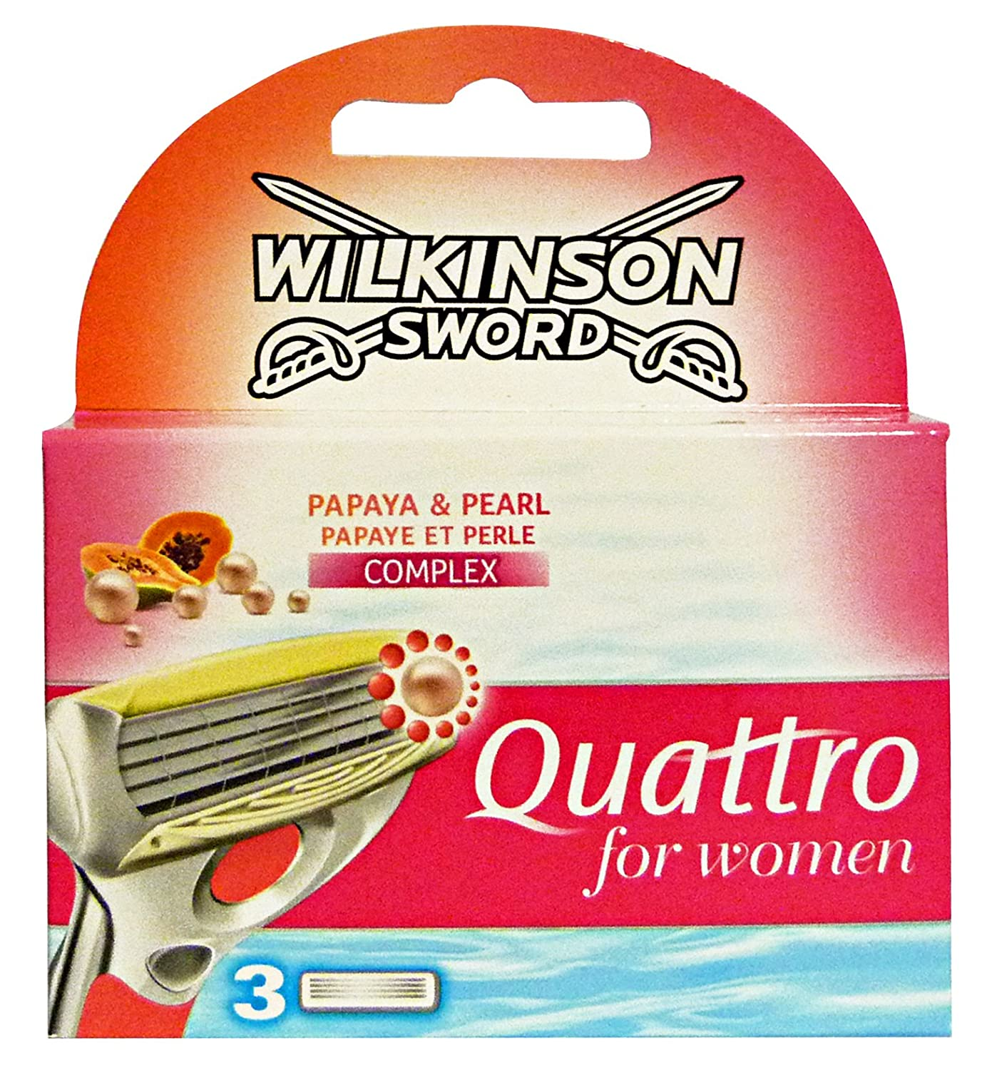 Wilkinson Sword Quattro for Women Razor Blades - Pack of 3 BeautyCentre 3865391