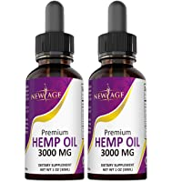 (2-Pack) 3000mg Hemp Oil Extract for Pain & Stress Relief - 3000mg of Pure Hemp...