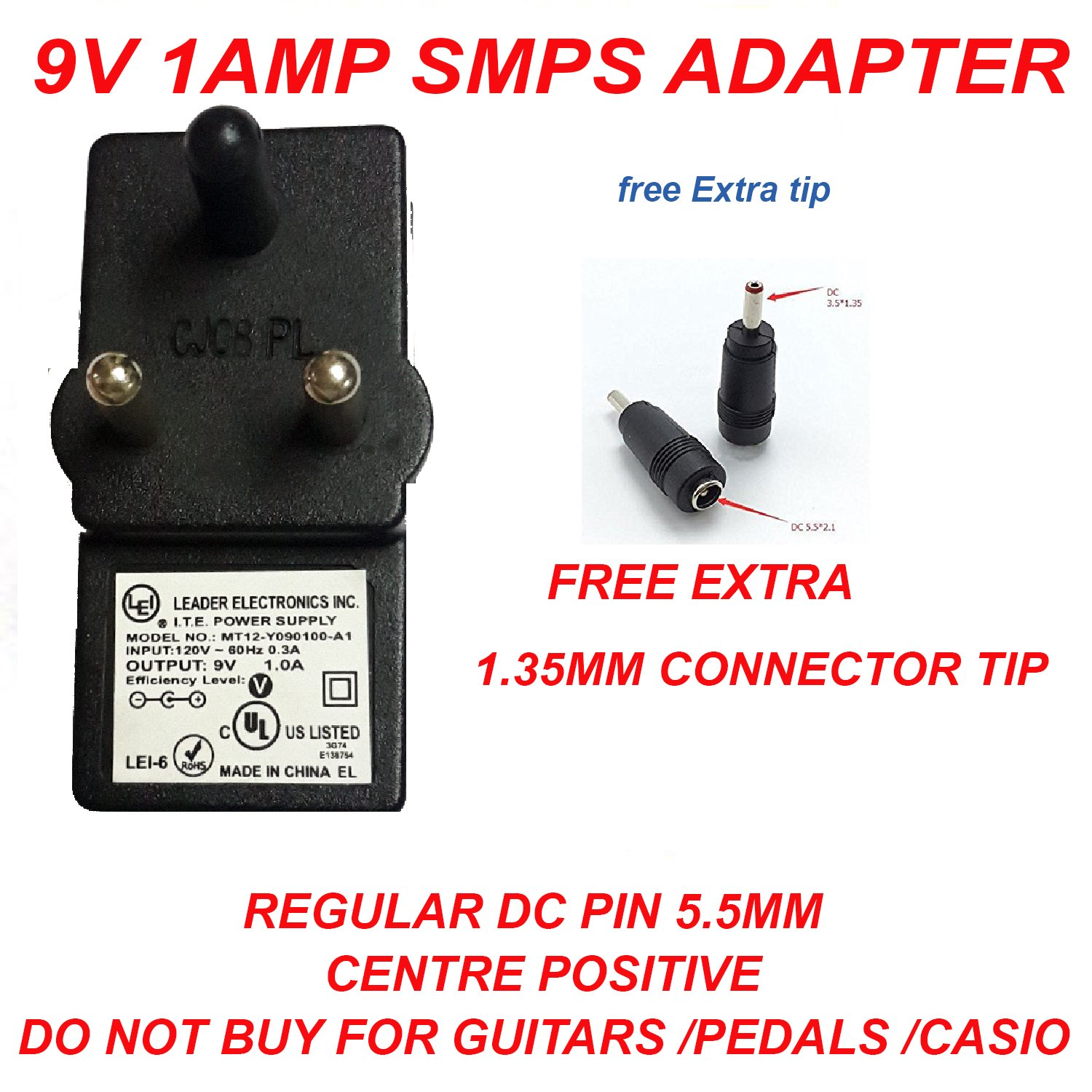 NIRMALS 9V 1AMP DC SMPS POWER SUPPLY For LED Strip: Amazon.in ...
