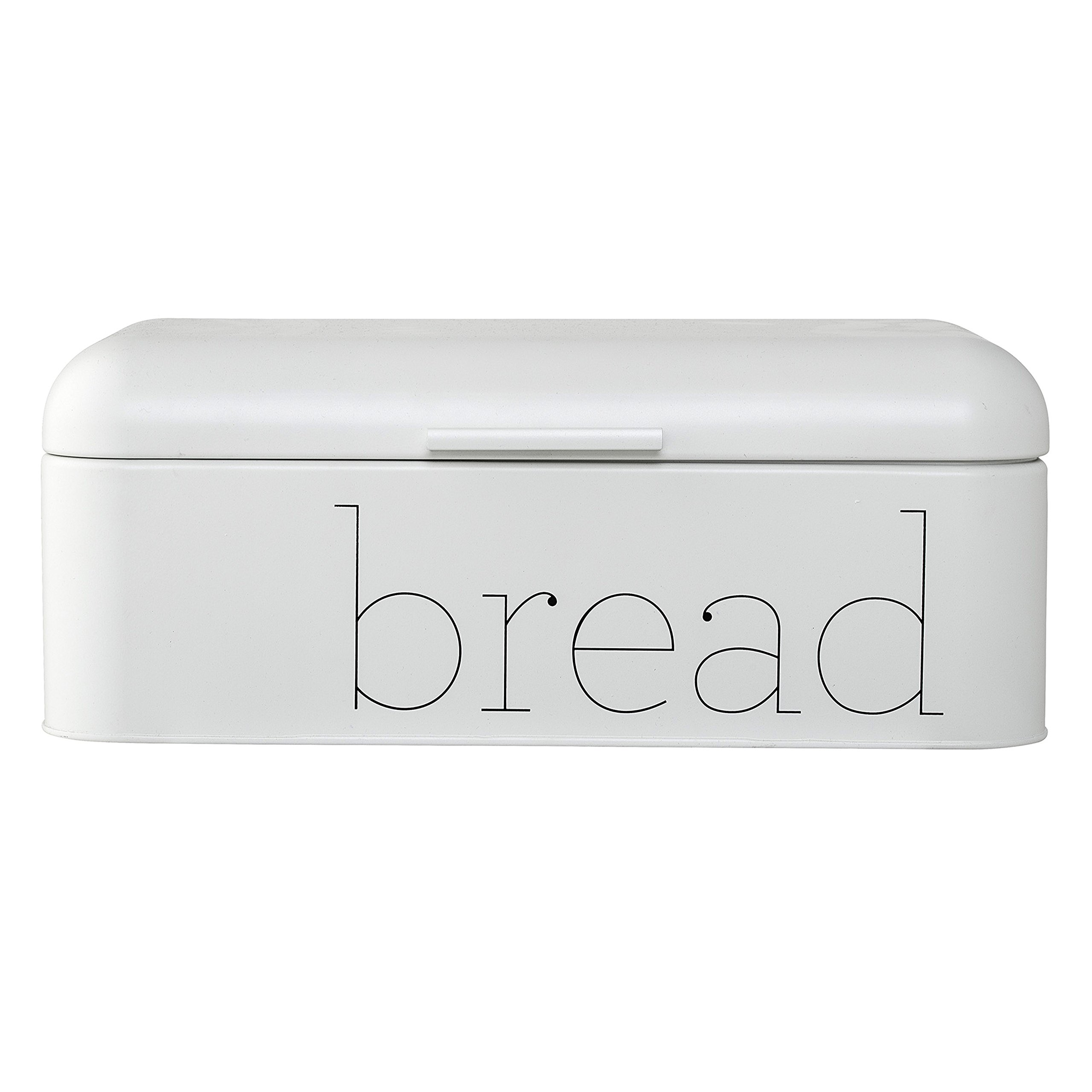 Bloomingville A97306648 Metal Bread Bin, White by Bloomingville