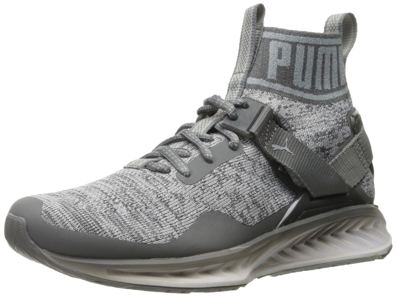 Puma Mens Ignite Evoknit Fade Cross-Trainer Shoe  7.5 D(M) US|Quiet Shade/Quarry/Puma White
