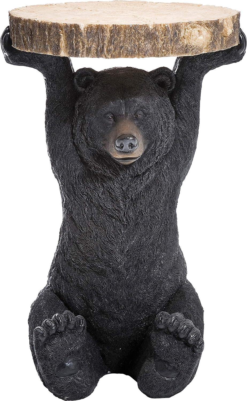 Kare Design Mesa Animal Orso, poliresina, Marrón, 53x33x33cm