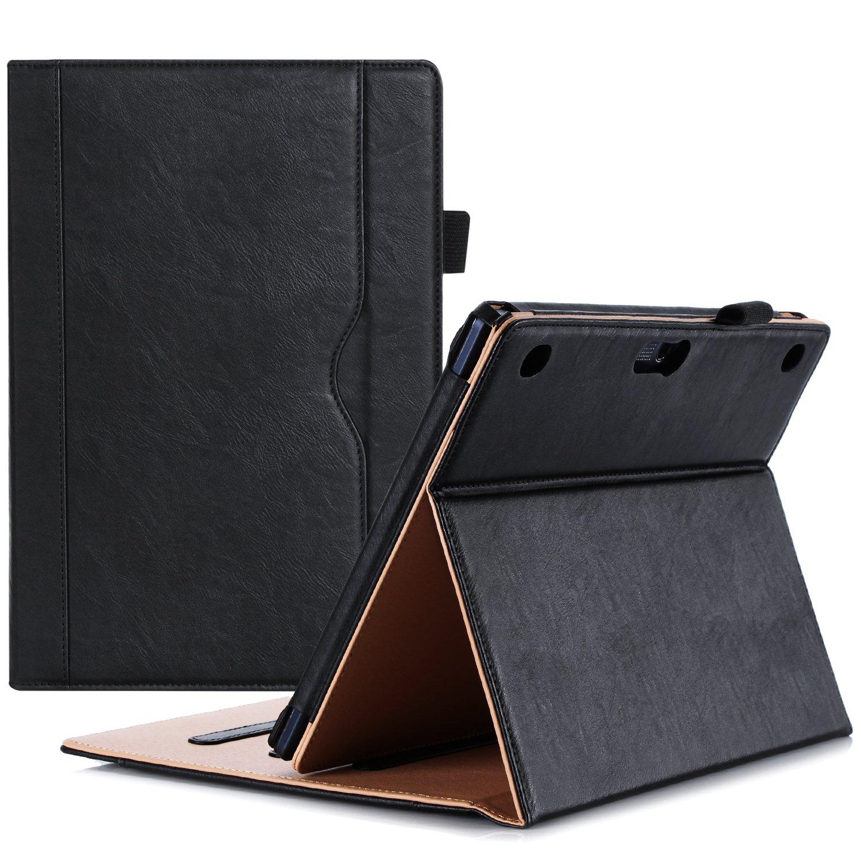 ProCase Lenovo Tab 2 A10 / Lenovo TAB-X103F Tab 10 Case - Leather Stand Folio Case Cover for Lenovo Tab2 A10-70 / Tab2 A10-30 / Tab 3 10 Plus / Tab 3 10 Business / TB3-X70 Tab 10 10.1'' Tablet -Black