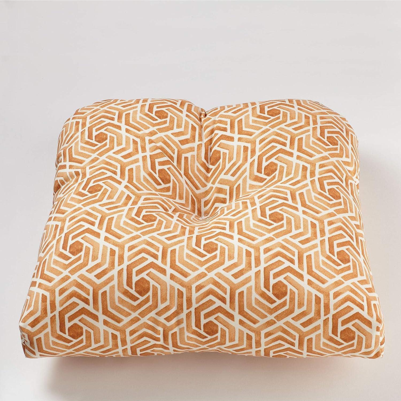 BrylaneHome Tufted Wicker Chair Cushion – Leisure Fresco Clay