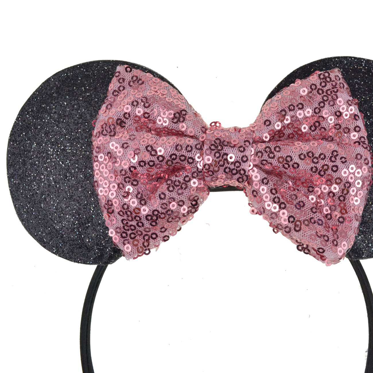 DRESHOW Mickey Ears Headbands Sequin Hair Band Accessories for Women Girls Cosplay Party by DRESHOW (Image #2)