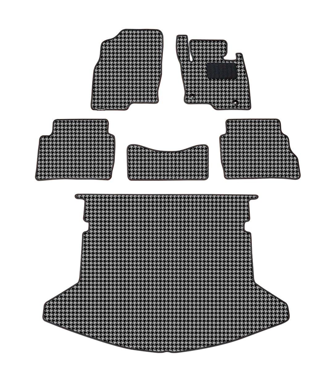 Hotfield マツダ CX-5 フロアマット+トランクマット 千鳥グレー KE系 (2012年2月~2017年1月)/フットレスト一体形状 B01N29UEF2 KE系 (2012年2月~2017年1月)/フットレスト一体形状|千鳥グレー 千鳥グレー KE系 (2012年2月~2017年1月)/フットレスト一体形状