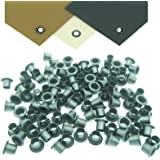 "QuickClip Pro Mil-Spec Kydex Eyelets GS 8-8, Brass Black Oxide 1/4"" DIY Gun Holster Knife Sheath Grommets"
