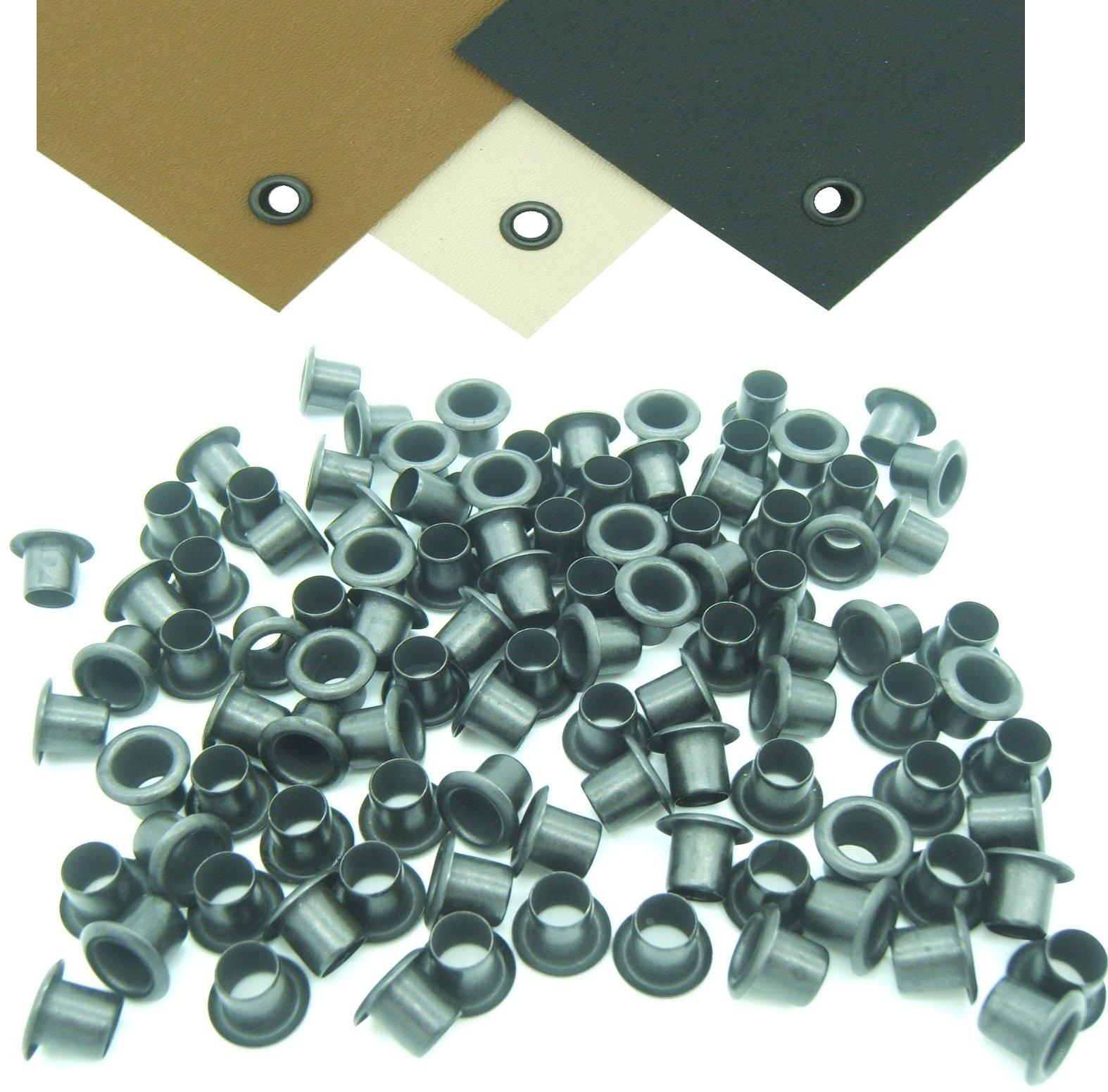 Mil-Spec Kydex Eyelets GS 8-8, Brass Black Oxide 1/4'' DIY Gun Holster Knife Sheath Grommets (100) by QuickClip Pro