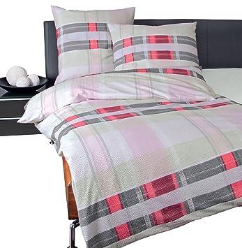 Janine Design Seersucker Bettwäsche Tango 2453 01 135x200 Cm 80x80