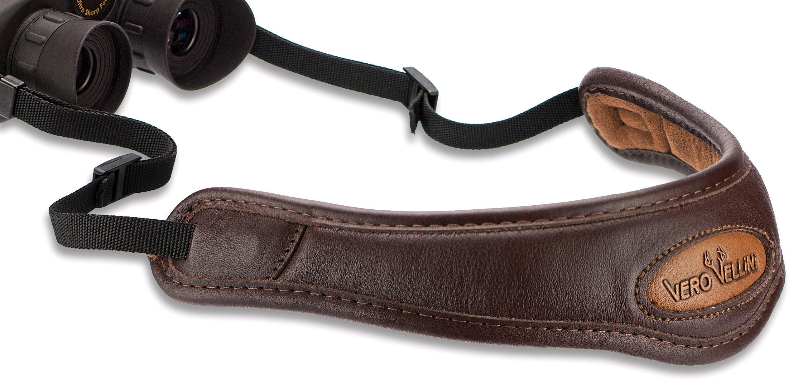 Vero Vellini Contour Binocular Leather Sling, Brown, 36-Inch by Vero Vellini (Image #1)