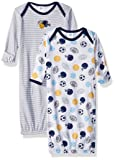 GERBER Baby Boys' 2-Pack Gown, Multisport, 0-6 Months