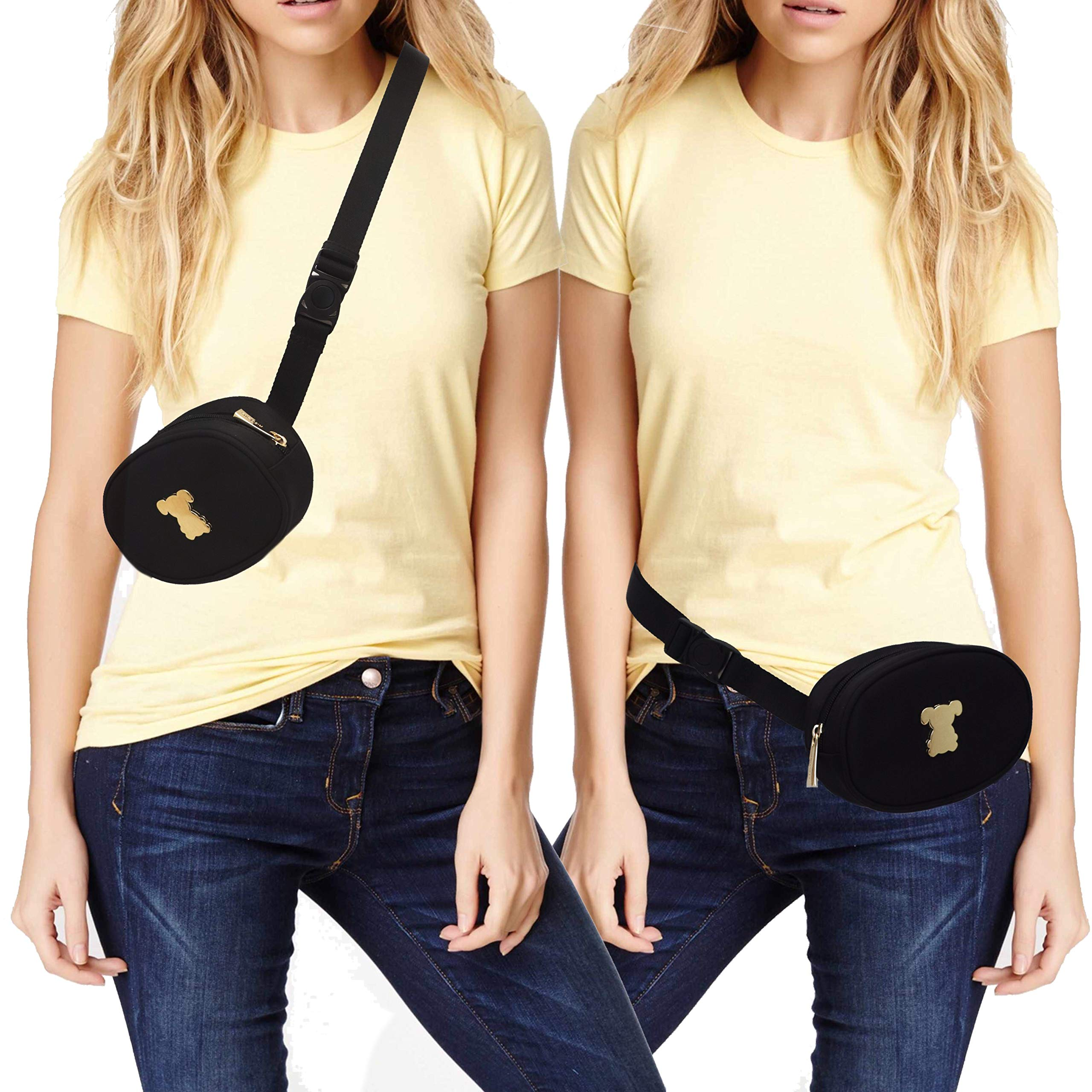 MISO PUP Belt Bag - Oval Fanny Pack with Swing Buckle