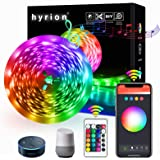 25ft WiFi Smart LED Strip Lights, Works with Alexa, Google Home Brighter 5050 RGB Light Strips, hyrion 16 Million Colors…