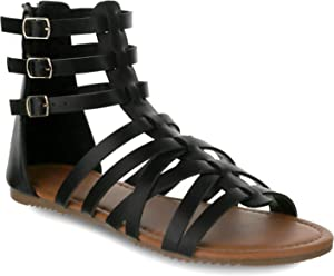 ea65fdb91 Olivia Miller  Tampa  Multi Strapped Triple Buckle Gladiator Sandals