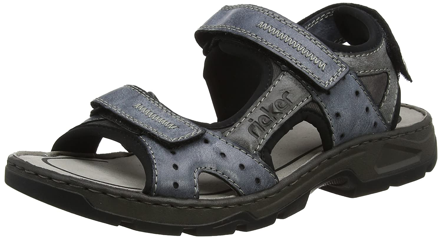 Mens 26157 Closed Toe Sandals, Ozean/Asphalt/Rauch, 6.5 UK Rieker
