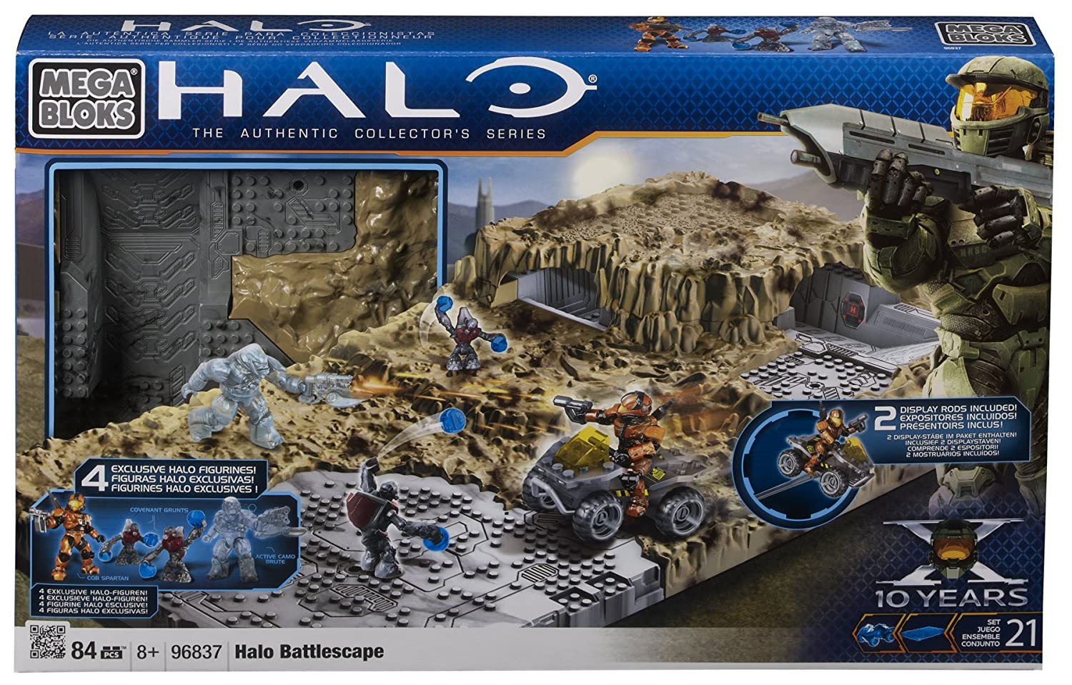 Megablocks - 96837U - Jeu de Construction - Halo - Battlescape - Champ de bataille