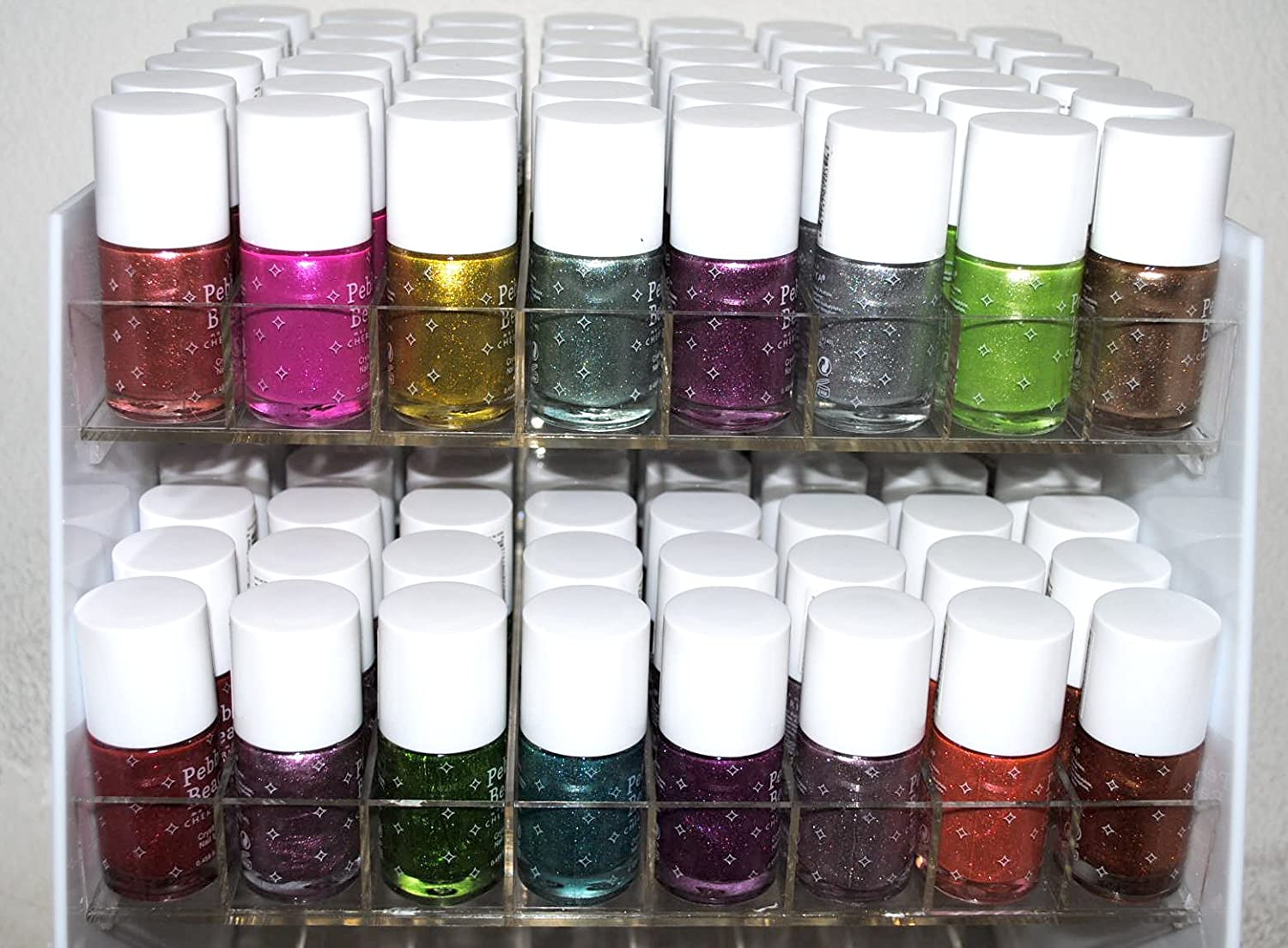 536fd65d1 Amazon.com  Crystal Sand Dust Style 16 Piece Color Nail Lacquer Combo Set +  6 Sets of Fruit Scented Nail Polish Remover  Health   Personal Care