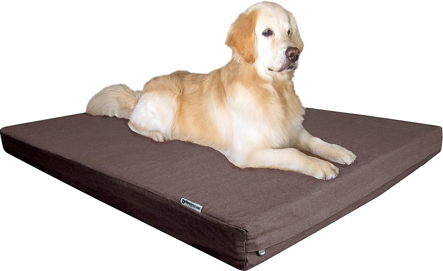 Dogbed4less Jumbo Heavy Duty Orthopedic Gel Memory Foam Pet Bed with Waterproof Internal Case 2 Washable Denim External Cover for Big Dog