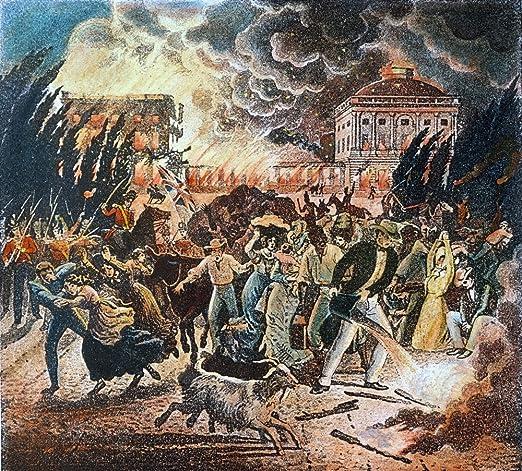 Amazon.com: Washington Burning 1814 Nwashingtonians Fleeing The ...