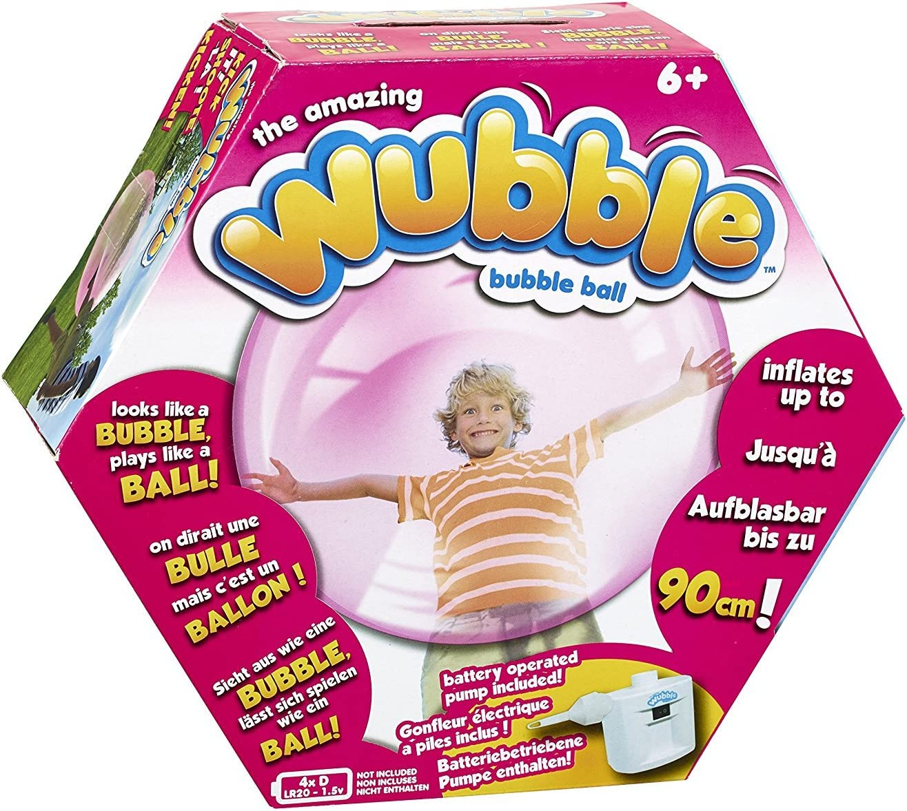 Wubble LYSB00N7R3CHQ-TOYS - Pelota Hinchable, Color Rosa: Amazon ...