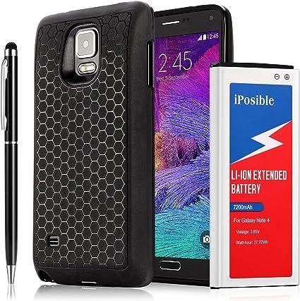 Galaxy Note 4 batterie Iposible [7200 mAh] batterie longue durée ...