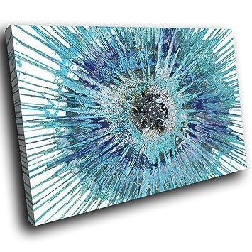 AAB1261F impression sur toile encadrée art mur coloré - bleu ...