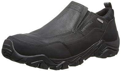 Merrell Men's Polarand Rove Moc Waterproof Winter Slip-On Shoe,Black,7.5 M
