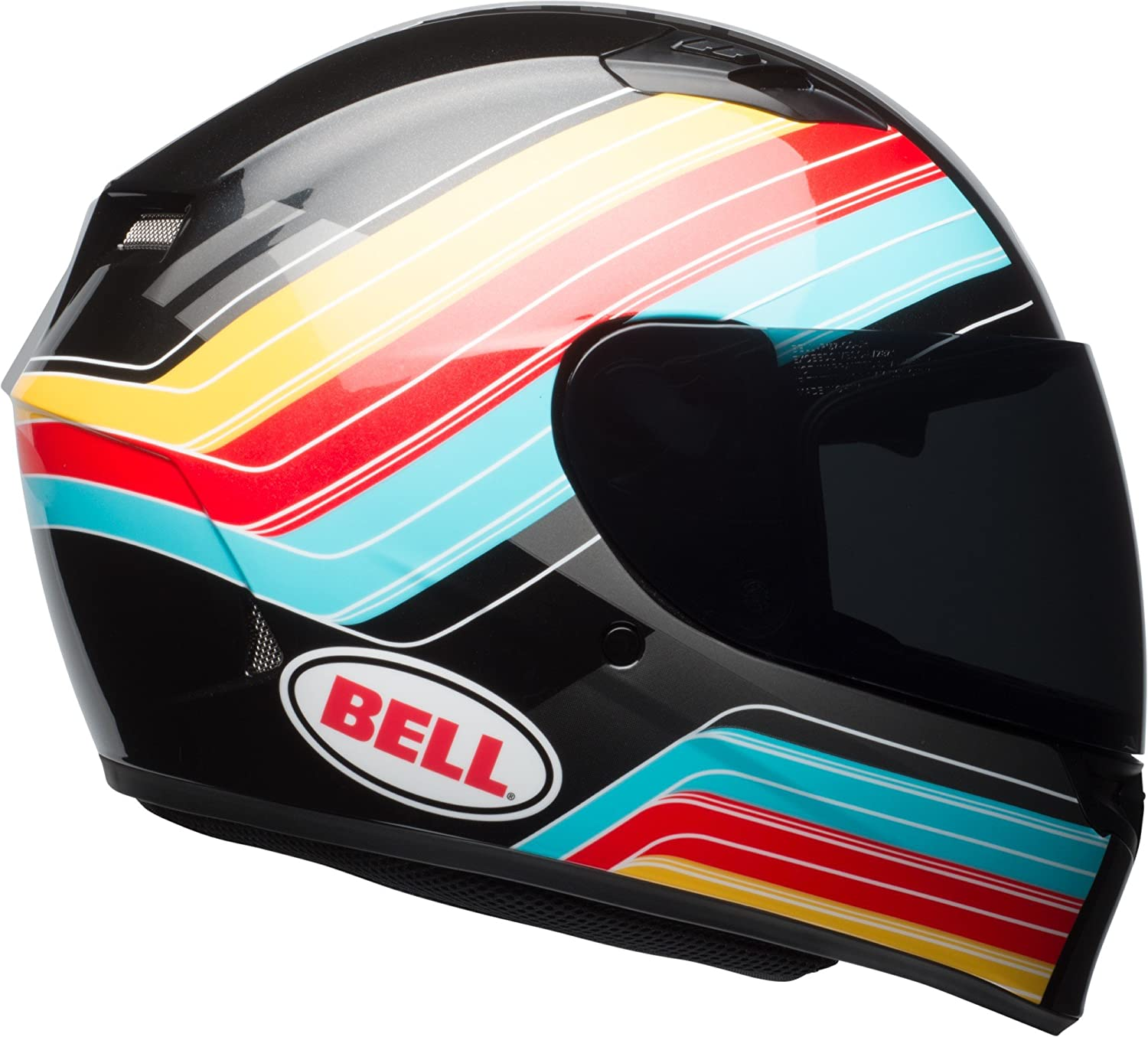 Amazon.com: Bell Qualifier Command Full-Face Motorcycle Helmet (Gloss Blue/Red/Yellow, X-Small): Automotive