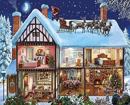 Mountain Christmas.White Mountain Puzzles Christmas House 1000 Piece Jigsaw Puzzle