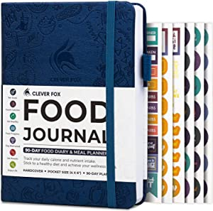 Clever Fox Food Journal Pocket Size - Daily Food Diary, Meal Tracker & Planner for Purse, Calorie and Nutrition Log, for Sticking to a Healthy Diet & Achieving Weight Loss Goals, 4.0x5.5