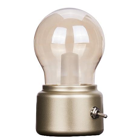 Amazon.com: Veesee Rechargeable Retro Mini Desk Lamp,Small Bedroom ...