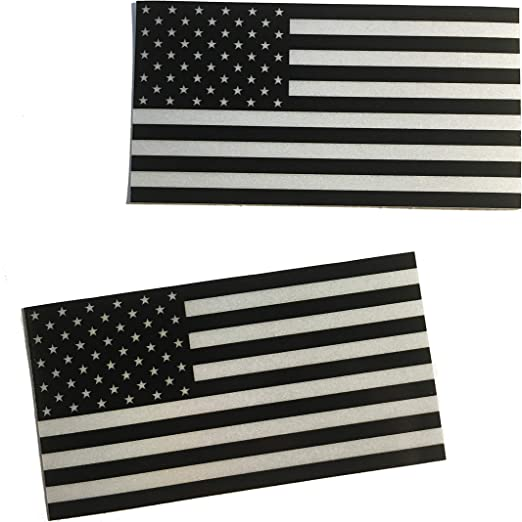 Empire Tactical USA 2 pack 3m negro reflectante bandera americana patriótica pegatina calcomanía duradera aplastar: Amazon.es: Hogar
