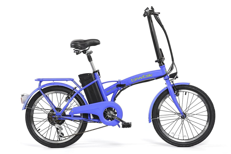 BIWBIK Book 200 Bicicleta Eléctrica, Unisex Adulto, Azul (Mate), M: Amazon.es: Deportes y aire libre