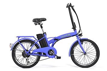 BIWBIK Book 200 Bicicleta Eléctrica, Unisex Adulto, Azul (Mate), M