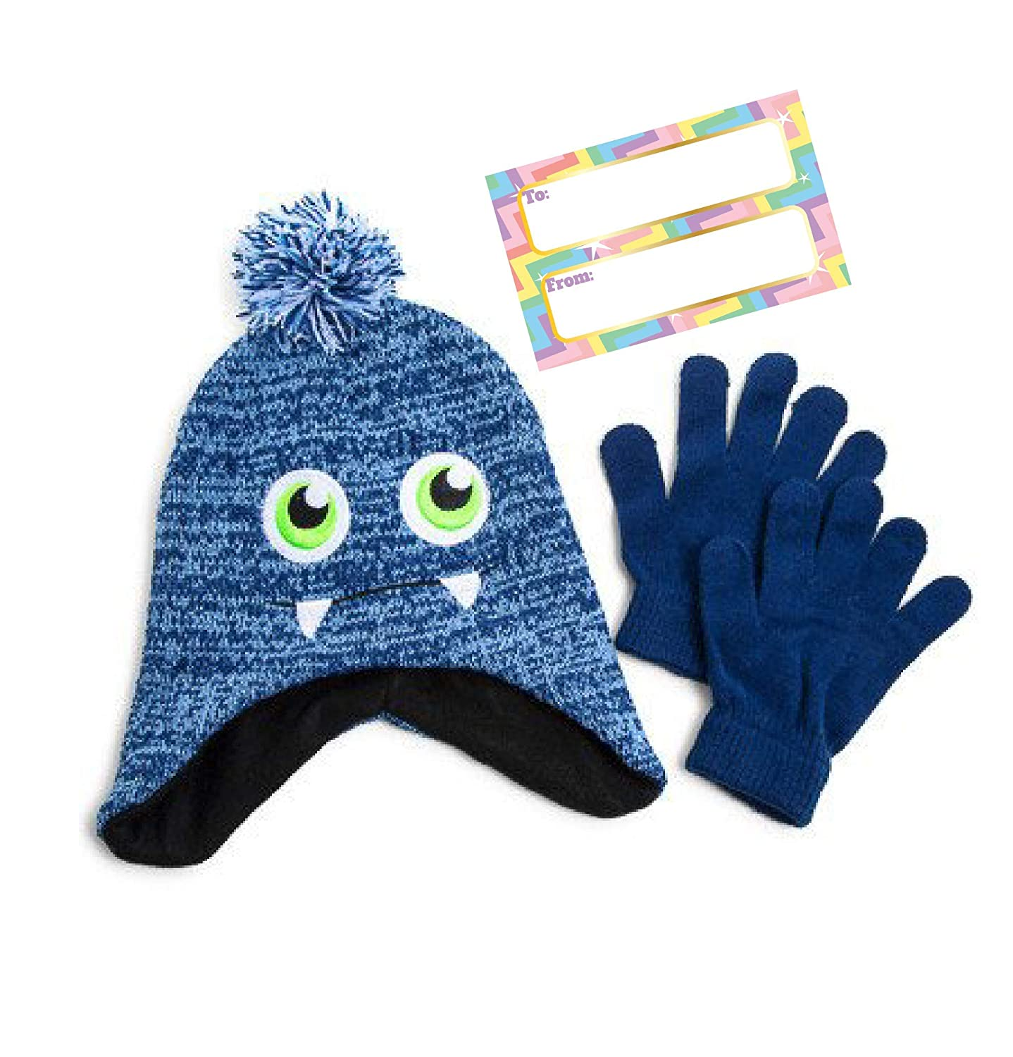 6b34b7fcb79 Children s Winter Beanie Hat and Gloves Set