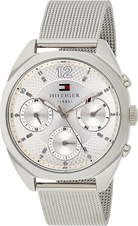 Reloj para mujer Tommy Hilfiger 1781628, mecanismo de cuarzo, diseño con varias esferas, correa de acero inoxidable.