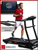 Sportstech F26 tapis roulant professionale con controllo di Smartphone App e cintura di impulsone inclusa - 4 CV motore con 16 km/h HRC allenarsi - pieghevole