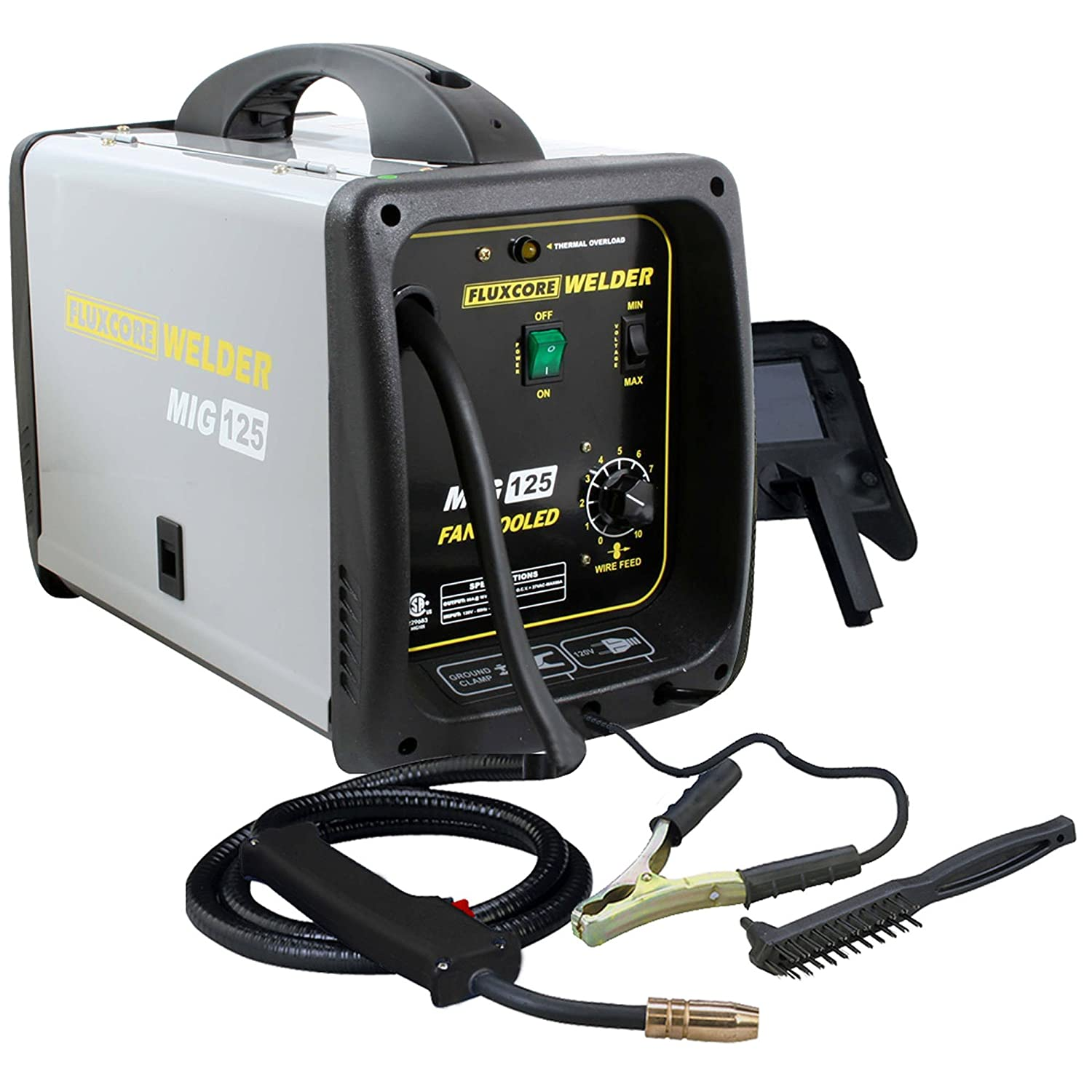 Pro-Series MMIG125 125 Amp Fluxcore Welder Kit, Black - Mig Welding ...