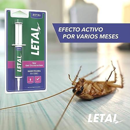 Letal TRX Gel Insecticida Cucarachas - Cebo Mata Cucarachas para Uso Doméstico de Zotal, Pack de 20 g en Total - Elimina Todo Tipo de Cucarachas - ...