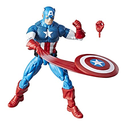 d8ce0f5ecc1fc Amazon.com  Marvel Retro 6-inch Collection Captain America Figure  Toys    Games