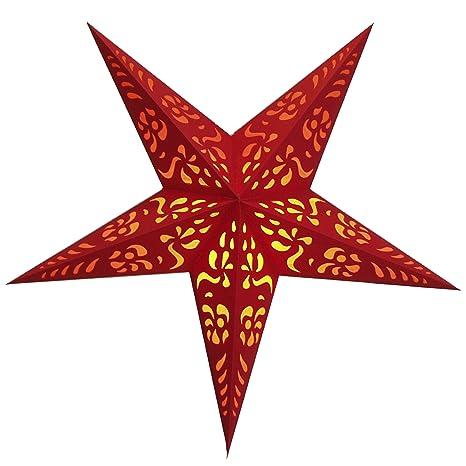 Stella Natale Di Carta.Brubaker Stella Di Natale Stella Di Carta Con 5 Punte Rosso Con
