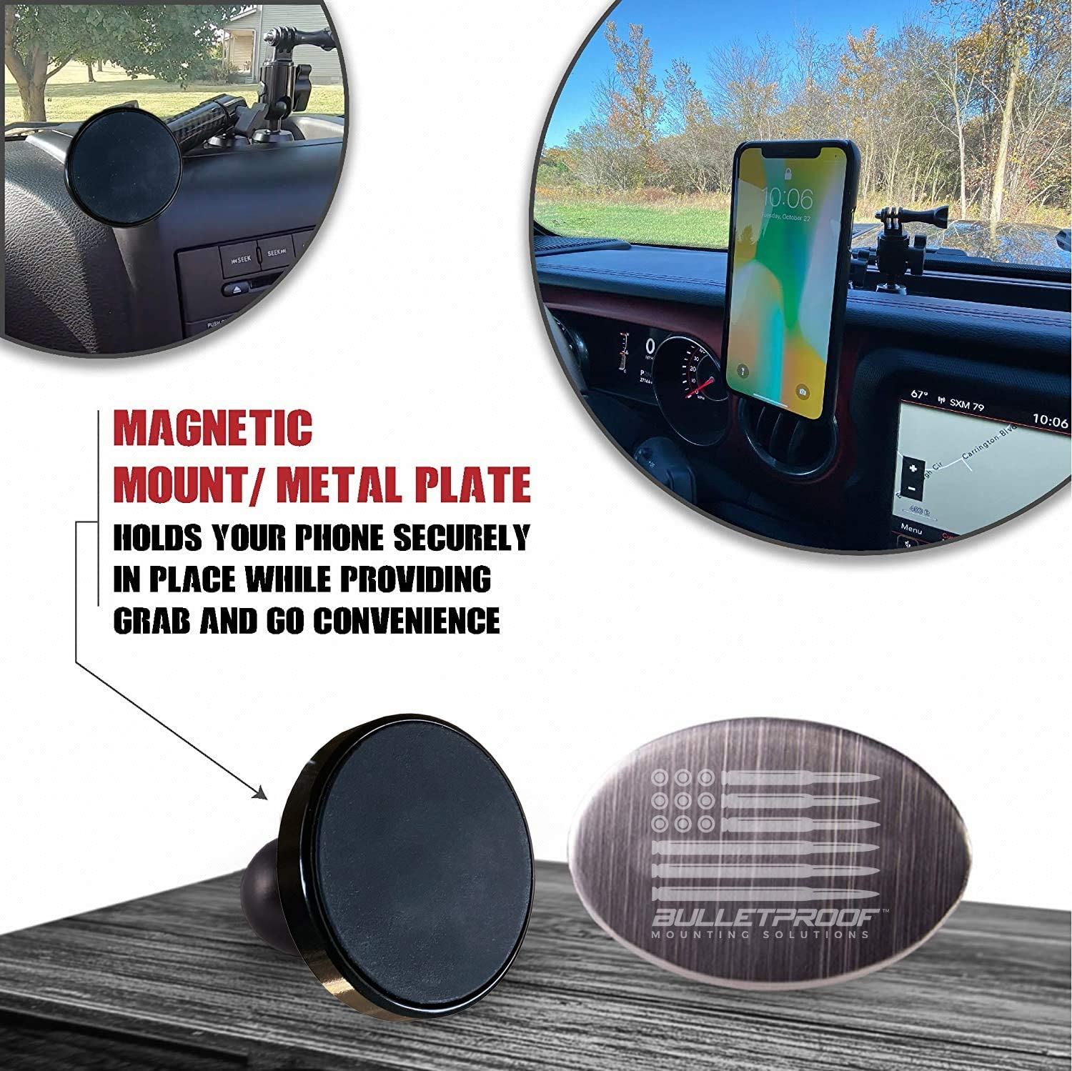 magnetic phone mount for jeep wrangler