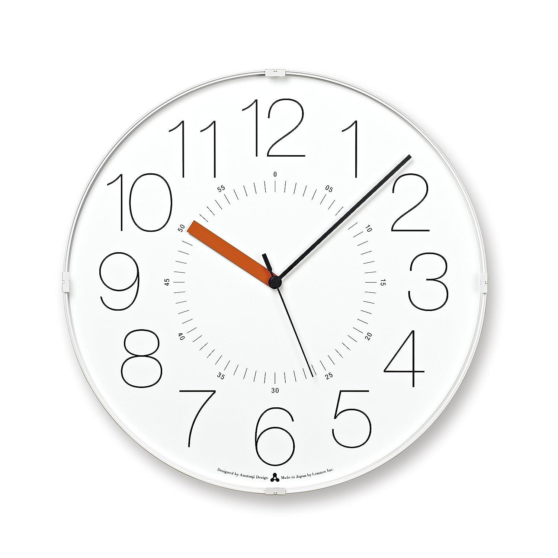 Lemnos CARA 電波時計 ホワイト(オレンジ針) B00H8LJQZ4 ホワイト(オレンジ針) ホワイト(オレンジ針)