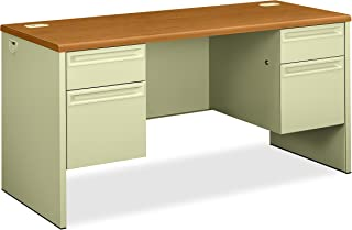 product image for HON Credenza with Kneespace, 60 by 24 by 29-1/2-Inch, Harvest/Putty