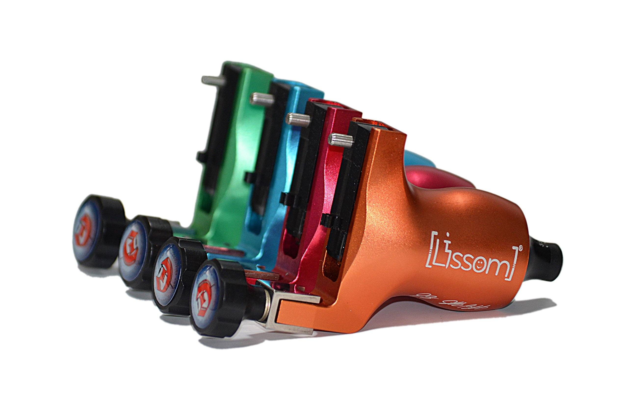 Lissom Rotary Tattoo Machine Gun, Slide Style , Fitted with Powerful Japanese Motor (Green)